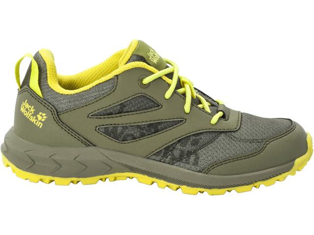 Jack Wolfskin Woodland Low Shoes Kids khaki/green